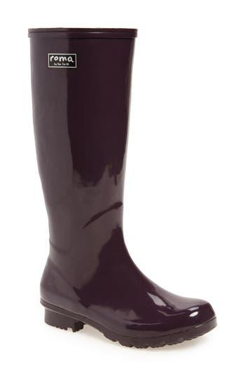 Roma Classic Glossy Rain Boot, Purple