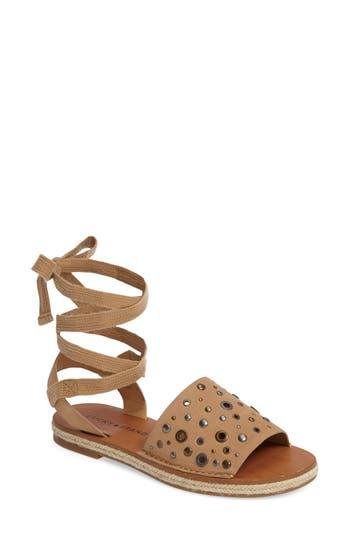 Lucky Brand Daytah Ankle Tie Sandal, Beige