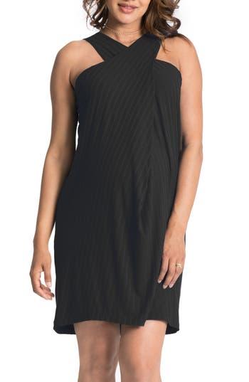 Bun Maternity Convertible Maternity Shift Dress, Black