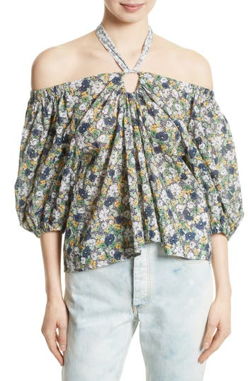 Women's La Vie Rebecca Taylor Suzette Off The Shoulder Floral Top