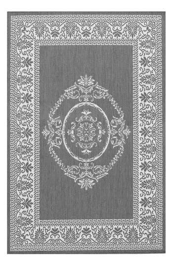 Couristan Antique Medallion Indoor/outdoor Rug, ft 0in x 3ft 7in - Grey