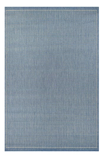 Couristan Saddlestitch Indoor/outdoor Rug, ft 0in x 3ft 7in - Blue