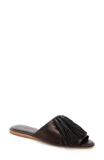 Loeffler Randall Kiki Tassel Slide Sandal, Black