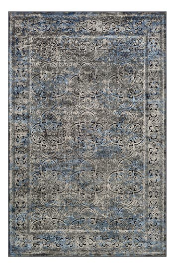 Couristan Cire Damsel Area Rug, ft 1in x 3ft 7in - Blue