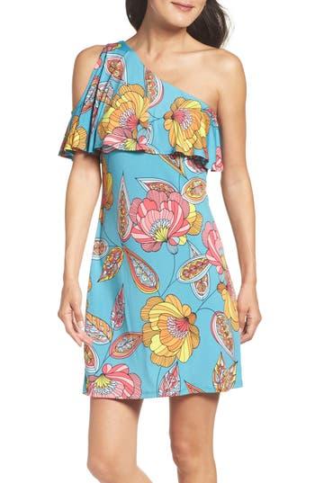 Trina Trina Turk Regal Asymmetrical One-Shoulder Dress