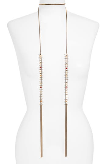 Women's Treasure & Bond Stone Ladder Lariat Necklace