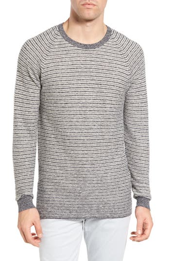 Men's Billy Reid Combo Stripe Crewneck Sweater