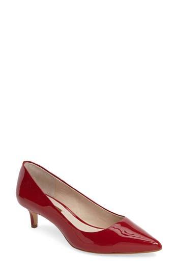 Louise Et Cie Jacoba Kitten Heel Pump- Red