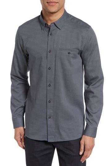 Men's Ted Baker London Lizbun Slim Fit Print Sport Shirt