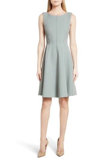 Theory Camogie Fit & Flare Dress, Grey