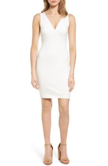 Soprano Cross Back Body-Con Dress, Ivory