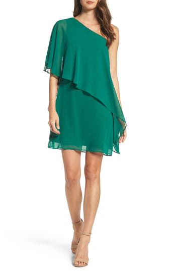 Women's Vince Camuto Chiffon One-Shoulder Dress