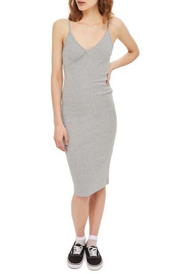 Topshop Kaia Body-Con Midi Dress, US (fits like 10-12) - Grey