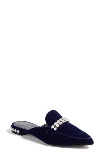 Stuart Weitzman Guamule Imitation Pearl Embellished Mule, Blue