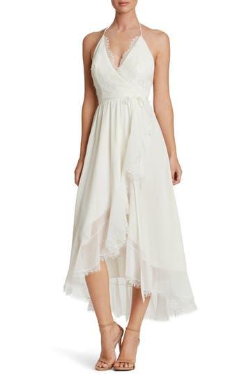 Women's Dress The Population Gia Backless Chiffon Wrap Dress, Size X-Small - Ivory