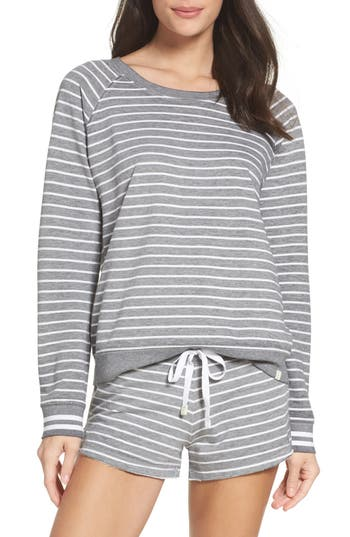 Honeydew Intimates Burnout Lounge Sweatshirt, Grey