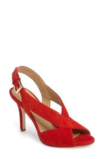 Michael Michael Kors Becky Slingback Sandal, Red