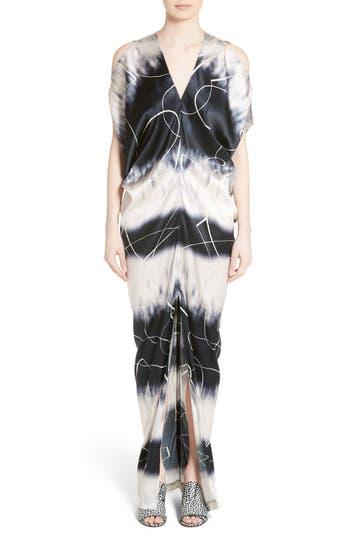 Zero + Maria Cornejo Kou Elliott X-Ray Stretch Silk Dress, White