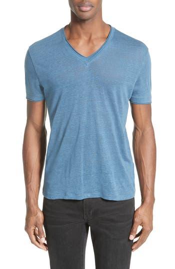 John Varvatos Collection Linen T-Shirt, Blue