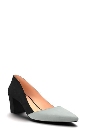 Shoes Of Prey Colorblock Pump, Black