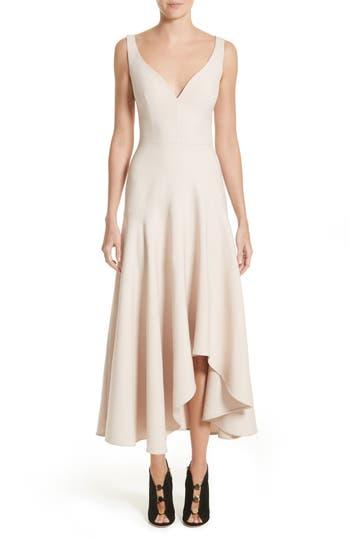 Alexander Mcqueen Silk Asymmetrical Dress, 8 IT - Grey