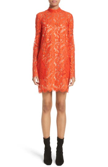 Stella Mccartney Cayla Lace Minidress, 8 IT - Red