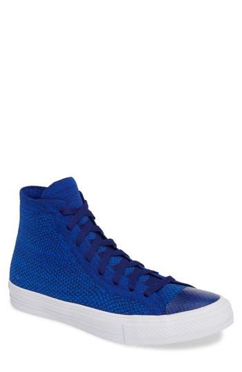 Converse Chuck Taylor All Star Flyknit Hi Sneaker, Blue