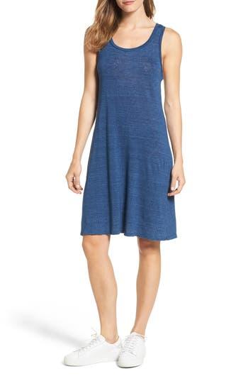 Ag Avril Linen Tank Dress, Blue