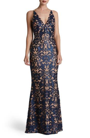 Dress The Population Karen Mermaid Gown, Blue