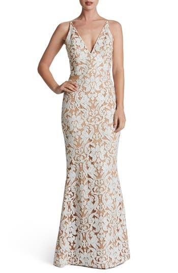 Dress The Population Karen Mermaid Gown, White