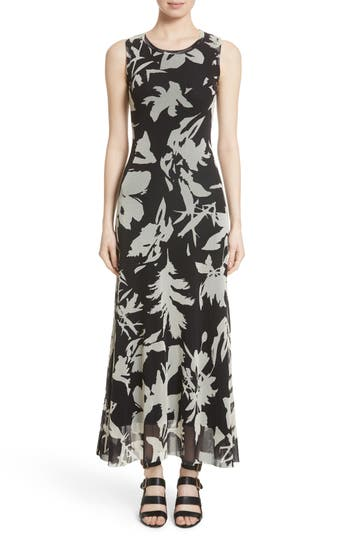 Fuzzi Floral Tulle Maxi Dress