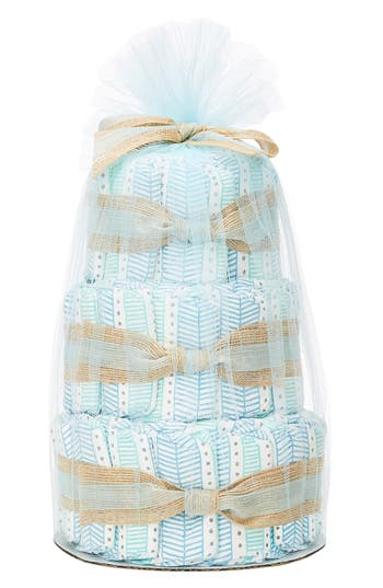 Infant The Honest Company Mini Diaper Cake & Travel-Size Essentials Set, Size One Size - Blue/green