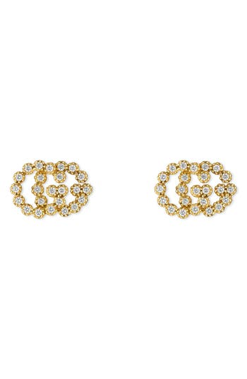 Gucci Double-G Diamond Stud Earrings