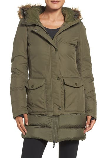 Women's The North Face Tuvu Water Repellent Parka With Faux Fur Trim