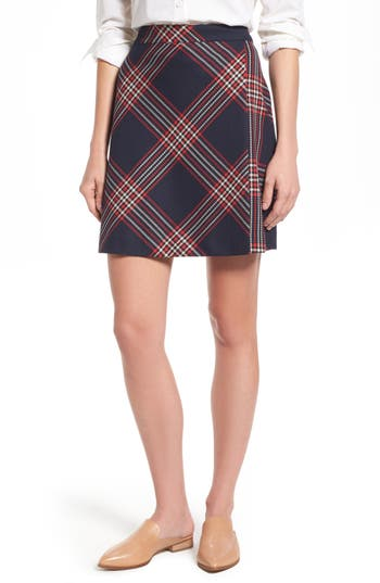 Women's Halogen Plaid Miniskirt