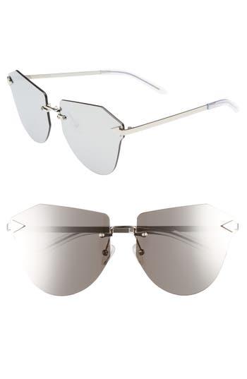 Women's Karen Walker Dancer 64Mm Mirrored Lens Rimless Sunglasses -