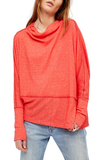 Women's Free People Londontown Thermal Tee, Size X-Small - Coral