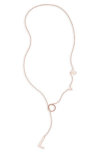 Adornia Love Lariat Necklace