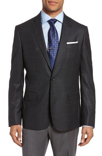 Big & Tall Nordstrom Classic Fit Check Wool Sport Coat