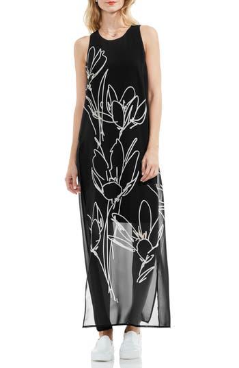 Vince Camuto Fluent Cluster Maxi Dress, Black