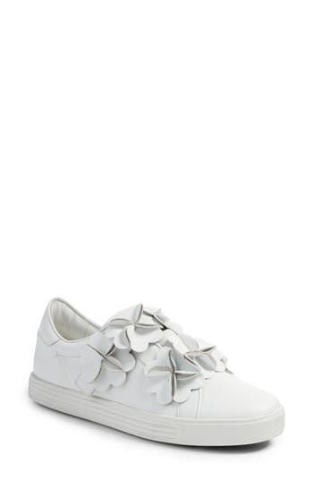 Kennel & Schmenger Town Floral Embellished Sneaker- White