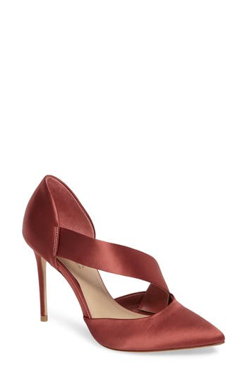 Imagine By Vince Camuto Oya Asymmetrical Pointy Toe Pump, Brown