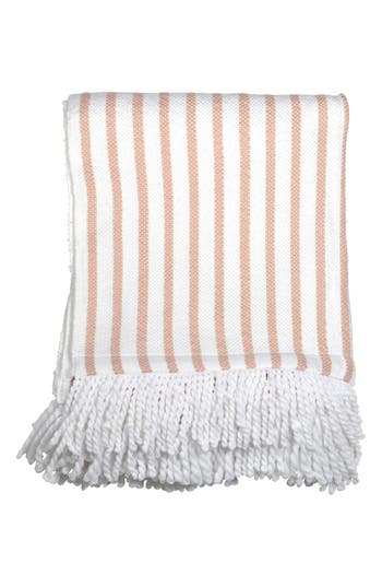 Peri Home Fringe Throw Blanket, Size One Size - Pink