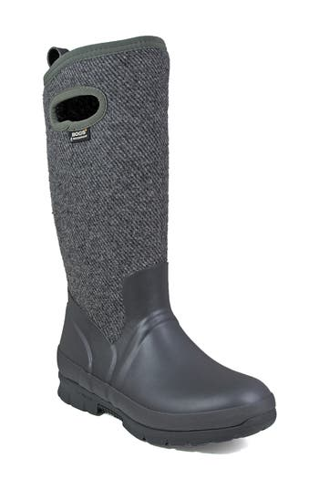 Bogs Crandall Waterproof Tall Boot, Grey