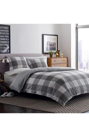 Original Penguin Flynn Comforter & Sham Set, Size Twin - Grey