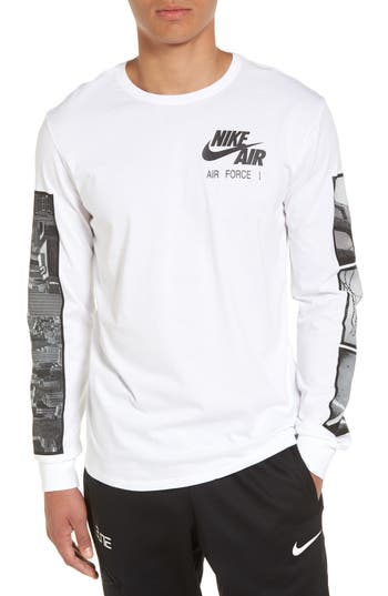 Nike Air Force 1 Long Sleeve T-Shirt, White
