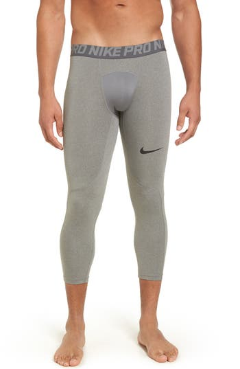 Nike Pro Three Quarter Training Tights, Grey