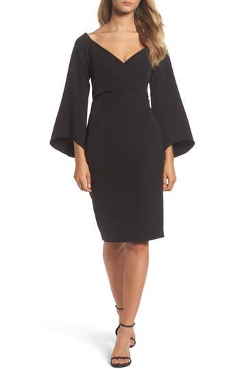 Bardot Ava Bell Sleeve Dress, Black