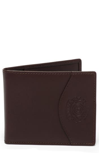 Ghurka Leather Money Clip Wallet - Brown