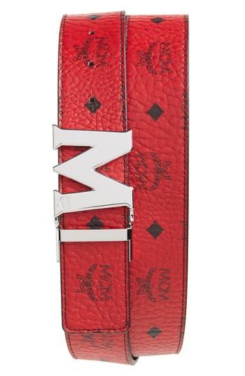 Men's Mcm Reversible Signature Leather Belt